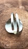 Скифское кольцо из природного сплава электрум золото серебро