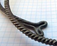 Славянская крученная серебряная шейная гривна