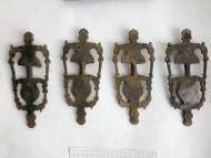 Четыре антропо-зооморфные фибулы Пастырского типа, вторая половина 7 века