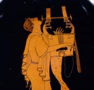 Кифаред. Фрагмент изображения на краснофигурной амфоре, 490 год до нашей эры. Музей Метрополитен
