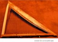 Реконструкция арфы из «Могилы поэта» из Пирея (Terzes Ch. 2013 The Daphne Harp //Greek and. Roman Musical Studies 1 (2013) 123-149)