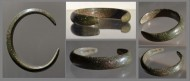 Скифский бронзовый браслет из толстого прута, 6-5 вв до н. э.