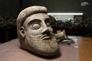 Терракотовая голова мужчины найденная в Керченской бухте у мыса Ак-Бурун