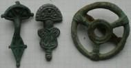 Три славянские фибулы, одна из них в виде солярного амулета