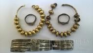 Два колта, браслет, два перстня.13-14 век