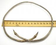 Шейная шейная гривна или браслет, украшенная циркульным орнаментом