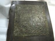 Лицевая часть иконі складня в сложенном виде - Крест на Голгофе