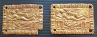 Золотые пластины - накладки, с сюжетом «Амур и Психея»