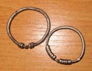 Древнеславянские женские серебряные височные кольца