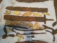 Меч и украшения ножен гуннской эпохи - 5 век
