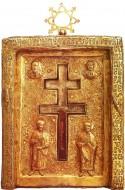 Изображение святых Космы и Дамиана. Филофеевская ставротека, XII век, Византия