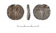 Печать с изображением святых мучеников Космы и Дамиана, найденная при раскопках в Суздальском Ополье