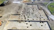 Исследованная часть могильника. Вид с юга