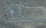 Рис. 1. Вид сверху на каменные сооружения кургана эпохи бронзы курганного могильника Фонтан 1