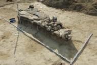 Рис. 2. Вид сверху на каменные сооружения кургана эпохи бронзы курганного могильника Фонтан 2
