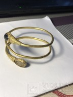 Золотой наручный спиральный браслет ручной работы