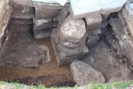 Раскоп северо-восточного угла церкви Рождества Богородицы, Боголюбово.