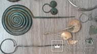 Предметы Милоградской культуры: шейная гривна серебро 110 грамм подвески золото 17 грамм