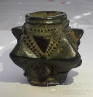 Древнерусская булава с крупными пирамидальными зубцами