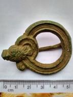 Фибула в виде свернувшейся клубком змеи, 10-11 век