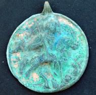 Круглая бляха-иконка «Чудо Георгия о Змие»