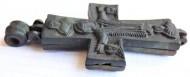 Балканский рельефный энколпион 12-14вв, Распятие Христово - Богородица Оранта