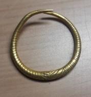 Золотое кольцо с узорчиками Гава-Голиградская культура