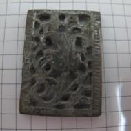 Османская узорчатая ременная накладка с остатками серебра