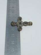 Древнерусский крестик из серебра с перегородчатыми эмалями и вставками золота