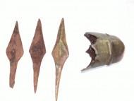 Наконечники стрел 16-17 век и наконечник ножен турецкой сабли