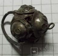 Редкий ранний бронзовый  древнерусский колт