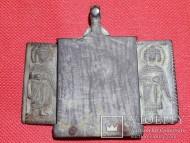 Нательная иконка складень Богородица Одигитрия. 5 образов. 12 век