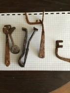 Ключи c места бывшего поселения Киевской Руси. 10-11 вв. Коп. Два ключика почищены и покрыты воском
