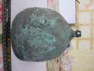 Шлем бронзовый Монтефортино, с надписью латынью на козырьке и петлями под нащечники