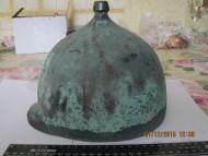 Шлем Монтефортино, с надписью латынью на козырьке и петлями под нащечники