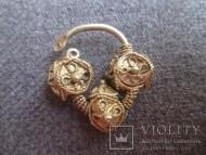 Золотой древнерусский колт. Скань