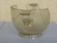 Древнеримский стеклянный сосуд скифос