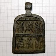 Икона: Поклонение Образу Спаса. Избранные праздники и святые. 16 век