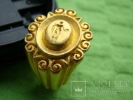 Золотой перстень печатка Рим , золото, середина 3 ст. нашей эры