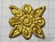 Золотая солярная скифская бляшка