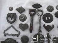 Разные бронзовые украшения конской сбруи. 18-19 век
