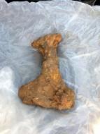 Древнерусский топор, найденный в апреле на берегу Березины