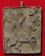 Икона Святой Евстафий Плакида. 14-15вв