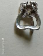 Серебряная пряжка ранние Славяне 6-7 век