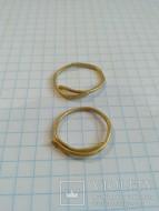 Золотые витые кольца 2шт. 2,82гр (скифы - чк?)