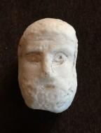 Античная маленькая мраморная голова