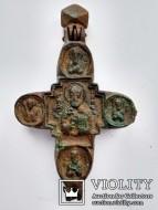 Огромный Энколпион Николая чудотворца. Распятие 15-16 век