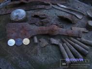 Хазарский боевой топор чекан с узорами