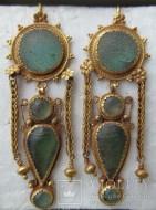 Золотые античные серьги, Северное Причерноморье, общий вес 23.73 грм., из коллекции