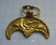 Золотая лунница ЧК вес 1,8 грамм